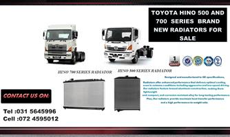 TOYOTA HINO 500 SERIERS  BRAND NEW RADIATORS FOR SALE