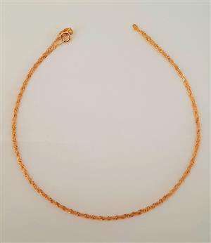 9ct yellow gold Disco Chain 45cm