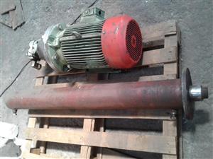 Hydraulic motor pump unit and cylinder
