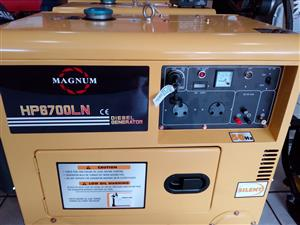 5 KW Magnum Diesel 6.5kva silent  Generators with Electric Start,and ATS  Price Incl Vat