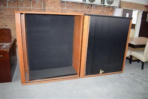 Very large black sliding door cupboards