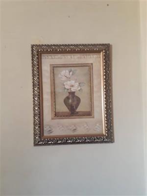 Mini blompot geraamde portret te koop