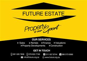 LOOKING FOR PROPERTY TO RENT, OPTION TO BUY (We can check if you qualify for a bond) IN ALL AREAS! Give us a call...