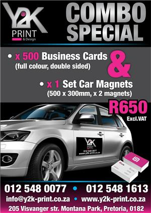 Business cards and Car Magnet great deal !