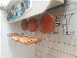 4 steel Kitchen counter stools h51cm from floor to seat