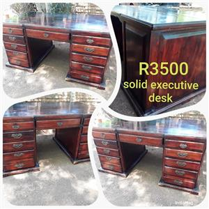 Solid executive desk for sale