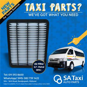 2TR Air Filter 2014- suitable for Toyota Quantum - SA Taxi Auto Parts quality NEW spares