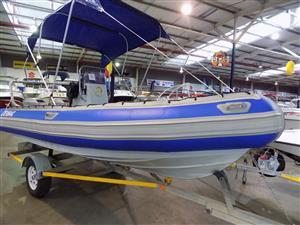 superduck 550 on trailer 2 x 40 hp mariners