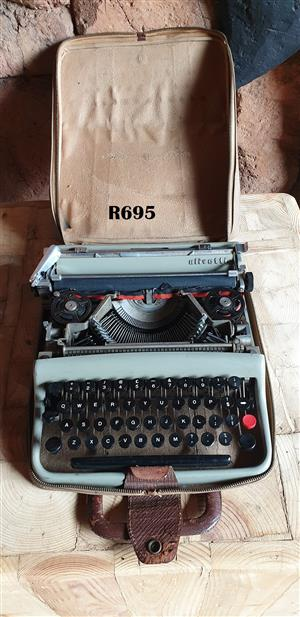 Vintage Olivetti Typewriter in Bag