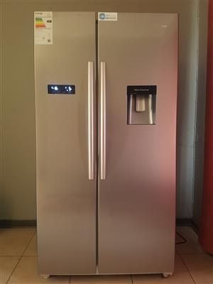 HISENSE Metallic Double Door Fridge (SIDE-BY-SIDE) - R8500 - Good as new!