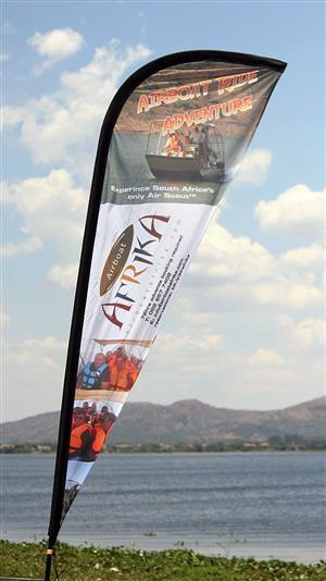 3m shark fin banner - complete