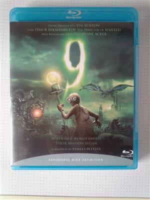 "Blu-ray DVD Movie ""9""."