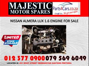 Nissan almera engine for sale 1.6