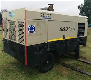 Doosan 750CFM / 21 Bar Diesel Compressor