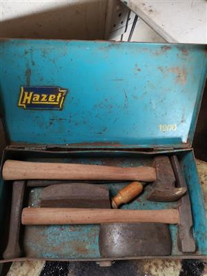 Hazet hammer and axe set for sale