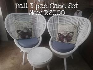 Bali 3 piece cane set