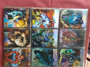 Marvel masterpieces 1995 rare trading cards
