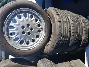 Alfa mag rims and tyres 205.55ZR16