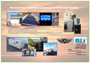 Solar Systems and Generator Installations