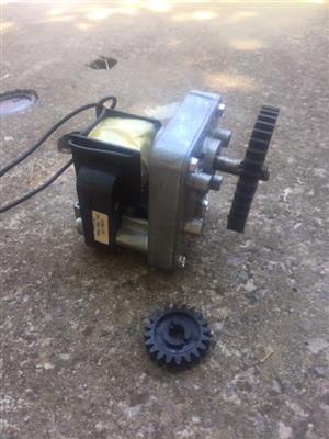 New, geared motors: 240v , 50Hz, 12rpm plus extra gear.