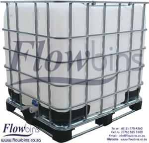 Gauteng: 1000L Flowbin Tanks / IBC: Square plastic tank in galvanized steel frame from R700