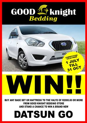 "Good Knight Bedding ""WIN A CAR'"