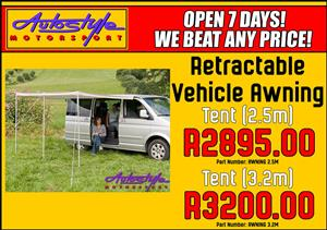 Retractable Vehicle Awning Tent 3.2m