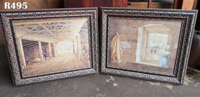 2 Framed Farmhouse Prints (650x550)