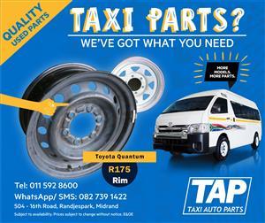 Toyota Quantum Rims - Taxi Auto Parts quality used spares - TAP