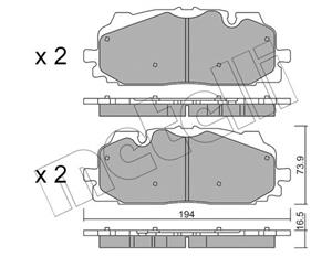 Audi Q5 & Q7 II ( 2015- ) Front Brake Pads Available At Voxwagen, Lenasia.