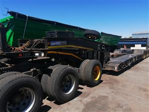Used 2008 Martin 4 Axle Welldeck Lowbed Trailer with Dolly for sale