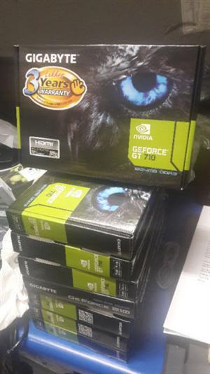 Gigabyte Geforce GT 710 1GB DDR3, D-Sub,DVI,HDMI- Brand New