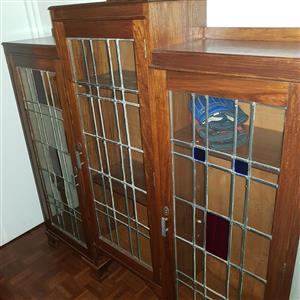 Antique lead and glass cabinet