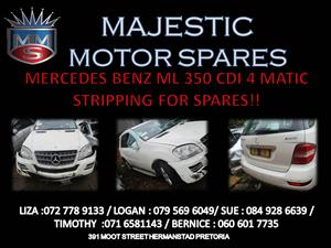 MERCEDES BENZ ML 350 CDI 4 MATIC STRIPPING FOR SPARES !!