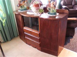 Old sideboard/display unit for sale @ R1800,00 o.n.c.o