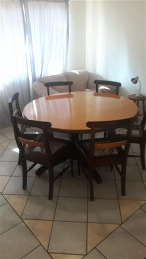 Full Wooden Dining Room Table Set
