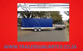 TRAILERS UNLIMITED 6000 X 2000 X 2000 PVC ENCLOSED TRAILER.