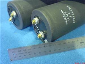 POWER ELECTROLYTIC CAPACITORS Nichicon Nx 8000uf/ 400Volt  Professional Grade Capacitors