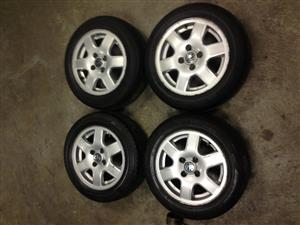 14' VW Citi Golf Flower mag rims with or without tyres