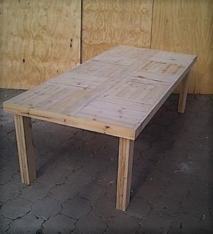 Patio table Farmhouse series 2500 Raw