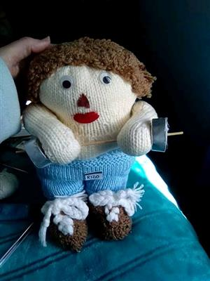 I make knitted toys like Santa clause,elephant Denis the menis,bugs bunny etc