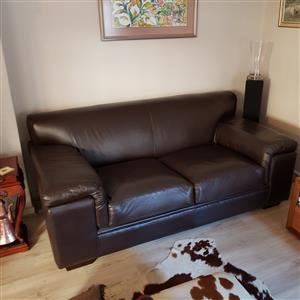 Fantastic Genuine 2 Seater Leather Couch For Sale Junk Mail Pabps2019 Chair Design Images Pabps2019Com
