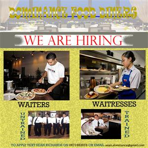 RESTAURANT PERSONNEL WANTED: WAITERS AND WAITRESSES