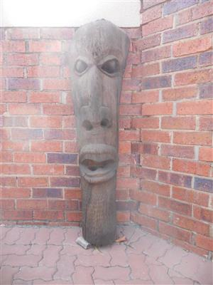 Wooden Indiginous Face Carving