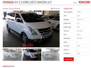 2013 Hyundai H1 H 1 2.4 panel van GL