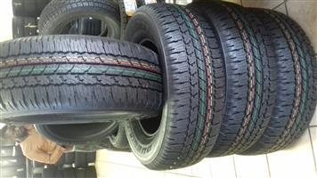 265/65/17 Bridgestone dueller a/t 693 new shape R6000 x4 new tyres