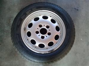 BMW RIM AND TYRE (1 off)