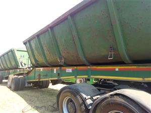 Side tipper trailer available in our yard.