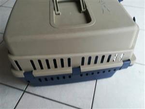 Big plastic container crate with handle