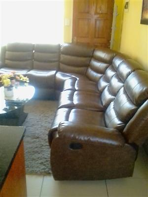 7 seater leather recliner couch